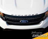 2011- 2015 Ford Explorer Sport BLACK Hood Letters Emblem- Gloss Finish